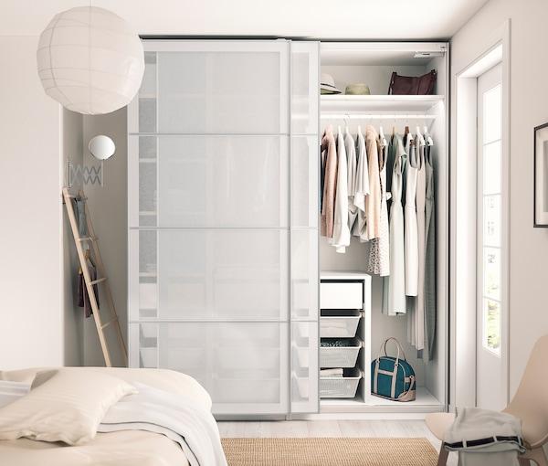 "PAX 3 wardrobe frames, white, 78 5/8x22 7/8x93 1/8 """