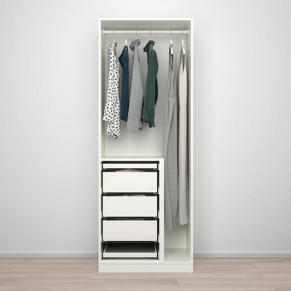"PAX / FORSAND/VIKEDAL Wardrobe combination, white/mirror glass, 29 1/2x23 5/8x79 1/4 """
