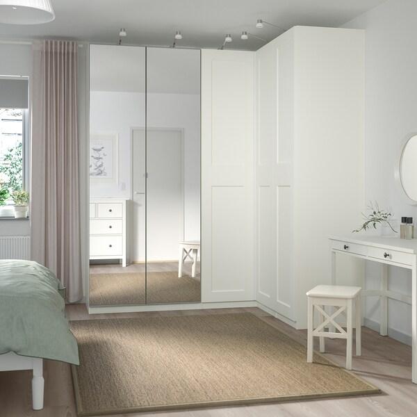 """PAX / GRIMO/VIKEDAL Corner wardrobe, white/mirror glass, 82 3/4/63 1/8x93 1/8 """""""