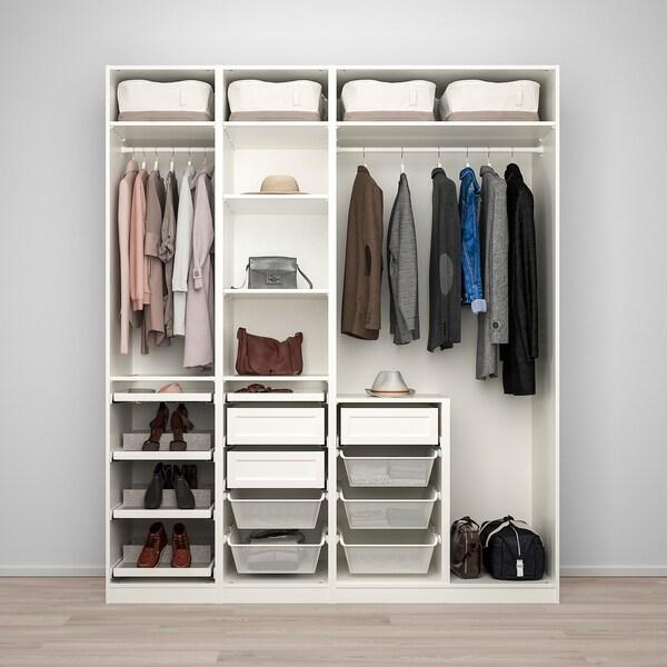 "PAX / GRIMO/VIKEDAL wardrobe combination white/mirror glass 78 3/4 "" 23 5/8 "" 93 1/8 """