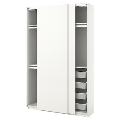 """PAX / HASVIK Wardrobe combination, white, 59x17 3/8x93 1/8 """""""
