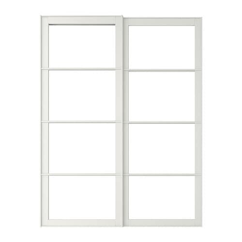 Pax pair of sliding door frames rail 150x236 cm ikea - Porte coulissante vitree ikea ...