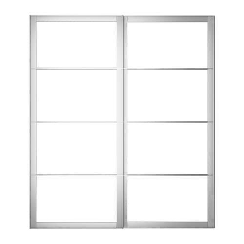 Kit Per Ante Scorrevoli Ikea.Pax Pair Of Sliding Door Frames Rail Aluminum