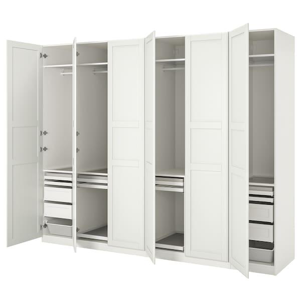 """PAX / TYSSEDAL Wardrobe combination, white/white, 118 1/8x23 5/8x93 1/8 """""""