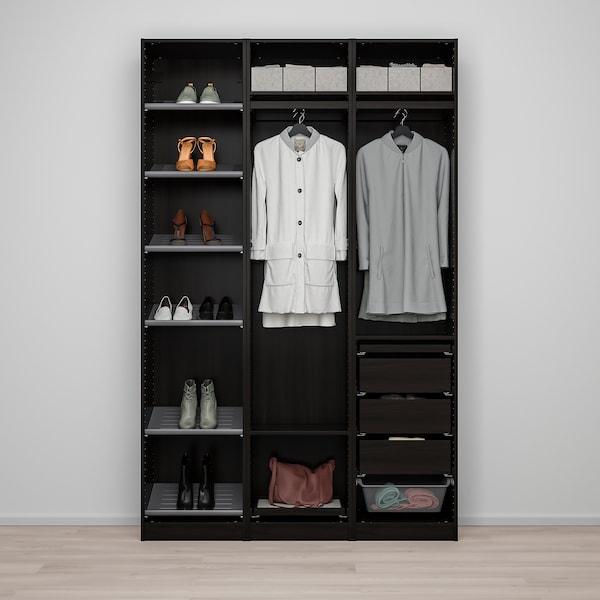 "PAX / VIKEDAL Wardrobe combination, black-brown/mirror glass, 59x15x93 1/8 """