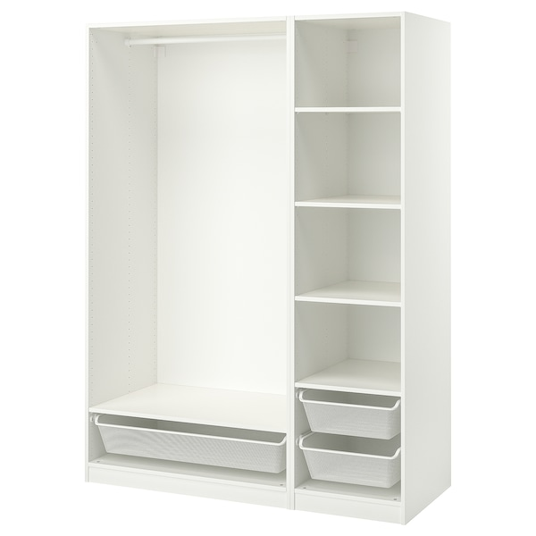 "PAX Wardrobe combination, white, 59x22 7/8x79 1/8 """
