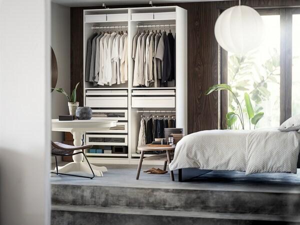 "PAX Wardrobe combination, white, 59x22 7/8x79 1/4 """