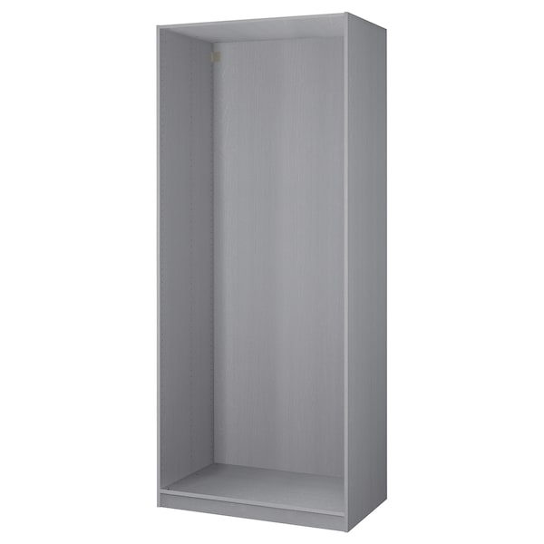PAX Wardrobe frame, gray stained ash effect, 39 3/8x22 7/8x92 7/8 ""