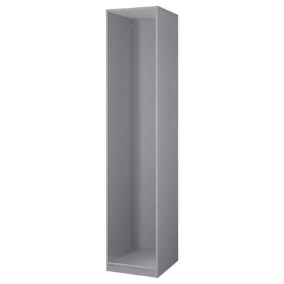 PAX Wardrobe frame, gray stained ash effect, 19 5/8x22 7/8x92 7/8 ""