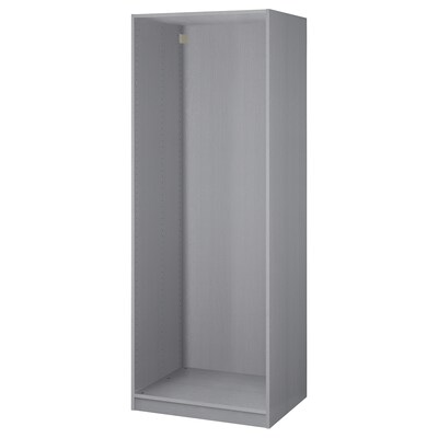 PAX Wardrobe frame, gray stained ash effect, 29 1/2x22 7/8x79 1/8 ""