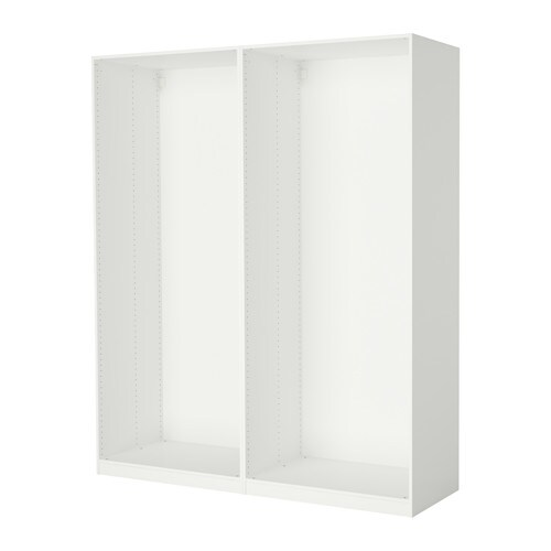 PAX 2 wardrobe frames   If you want to organize inside you can complement with interior organizers from the KOMPLEMENT series.