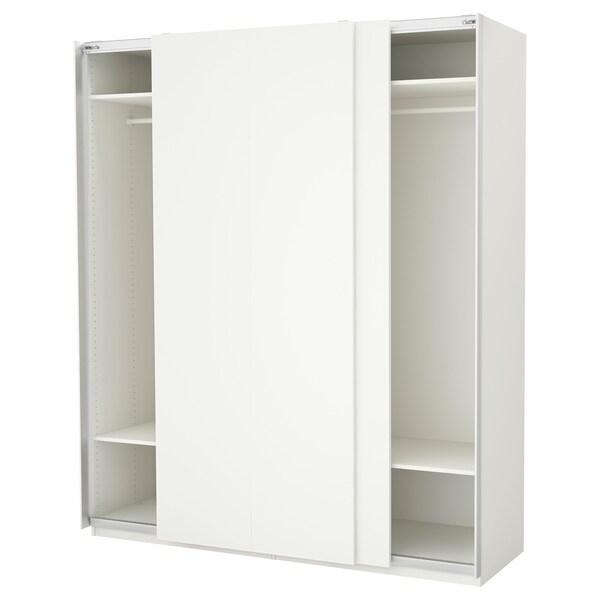 """PAX Wardrobe, white/Hasvik white, 78 3/4x26x93 1/8 """""""