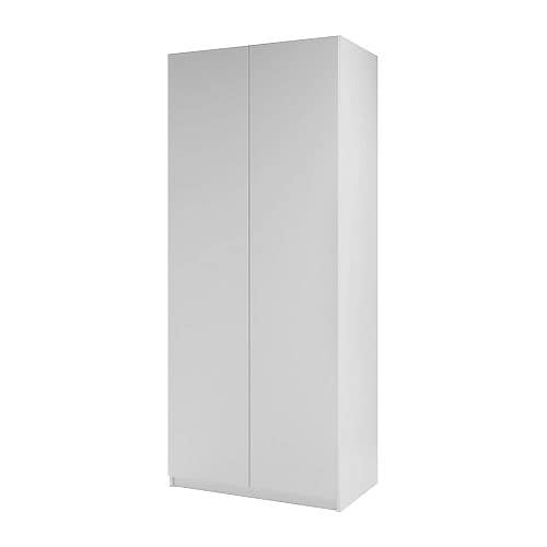PAX Wardrobe with 2 doors   Sized for KOMPLEMENT interior organizers.  Adjustable feet for high stability.