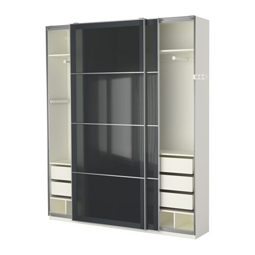 Ikea Tall Cabinet Glass Doors ~ PAX Wardrobe 10 year Limited Warranty Read about the terms in the