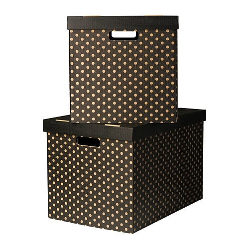 PINGLA Box with lid   Suitable for storing or moving books and other heavy items, since the bottom is reinforced.