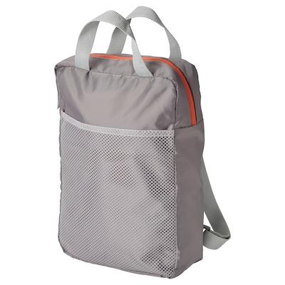 "PIVRING Backpack, light gray, 9 ½x3 ¼x13 ½ ""/2 gallon"