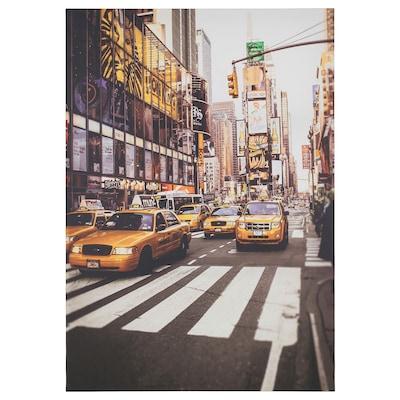 "PJÄTTERYD Picture, New York taxi cab, 27 ½x39 ¼ """