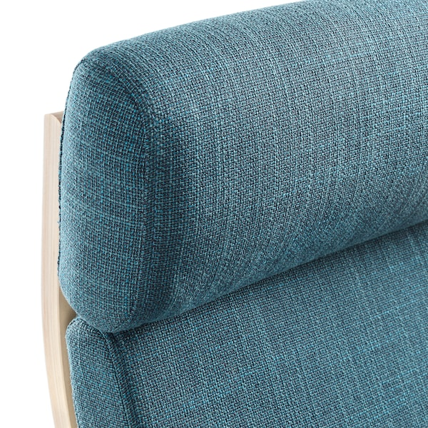 POÄNG Armchair, birch veneer/Hillared dark blue