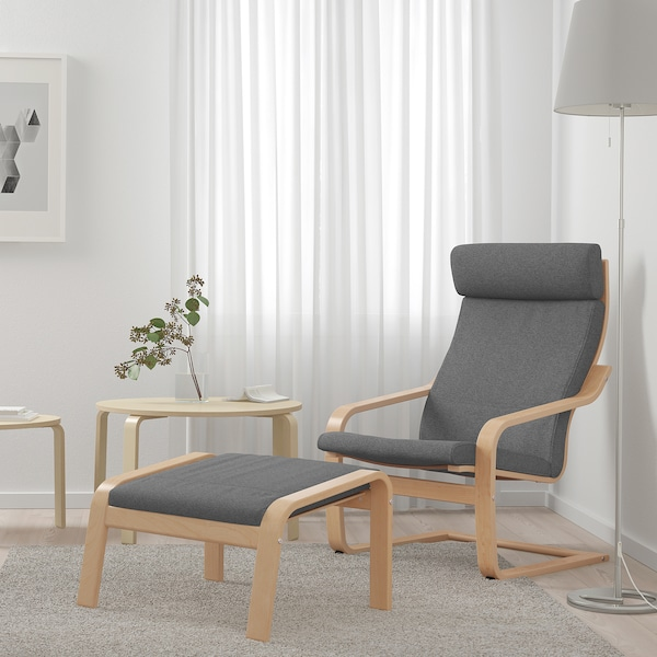 POÄNG Armchair, birch veneer/Lysed gray