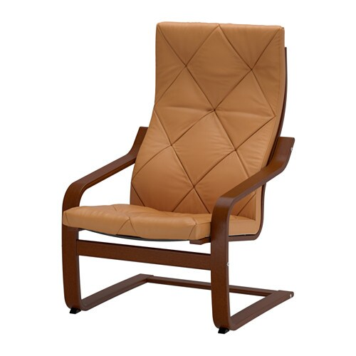 Po ng armchair seglora natural ikea - Ikea poang chair leather ...