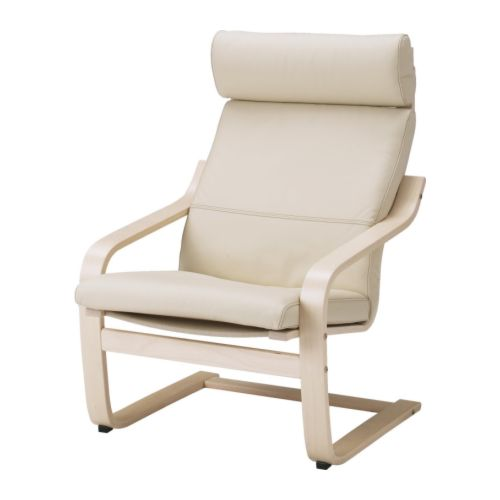 POÄNG Armchair cushion   Soft, durable and easy care leather which is practical for families with children.