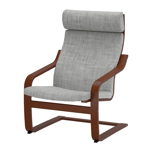 POÄNG Armchair   Layer-glued bent beech frame gives comfortable resilience.  The high back provides good support for your neck.