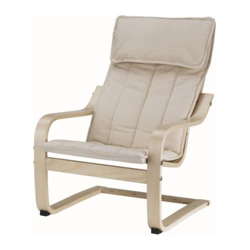 POÄNG Children's armchair   Easy to clean.   Removable, machine washable cushion.  Matches POÄNG armchair in adult size.