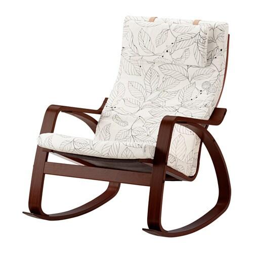 Po ng rocking chair vislanda black white ikea - Fauteuil a bascule poang ikea ...
