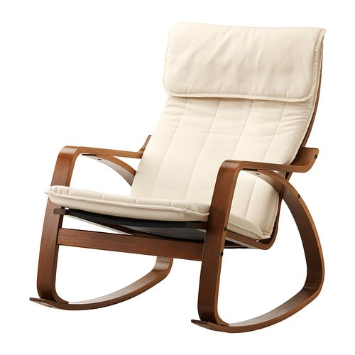 Po ng rocking chair ransta natural ikea for Childrens rocking chair ikea