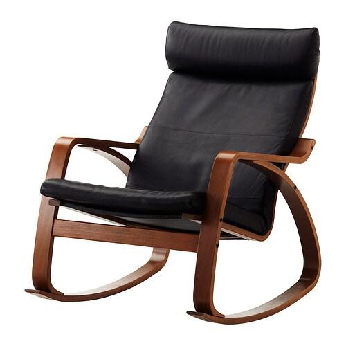 Po 196 Ng Rocking Chair Glose Black Ikea
