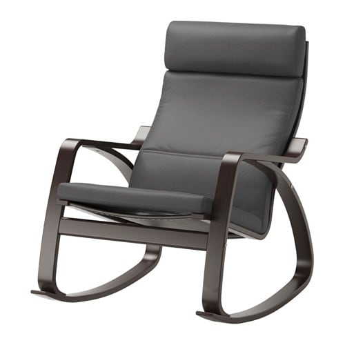 Po ng rocking chair finnsta gray ikea for Chaise 0 bascule