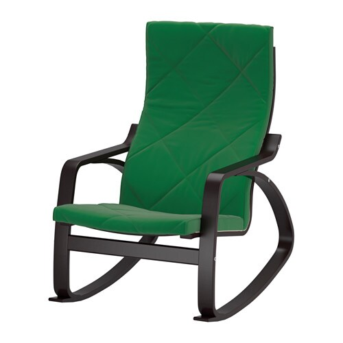 Po ng rocking chair sandbacka green ikea - Chairs similar to poang ...
