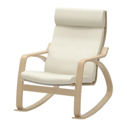 POÄNG Rocking chair   The frame is made of layer-glued bent birch which is a very strong and durable material.