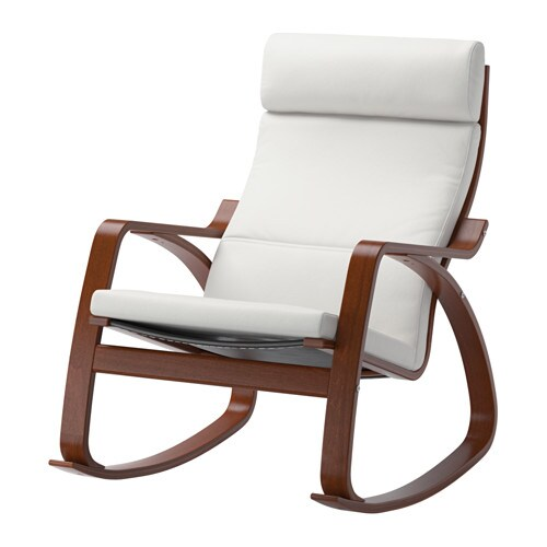 Po ng rocking chair finnsta white ikea for Chaise bercante walmart