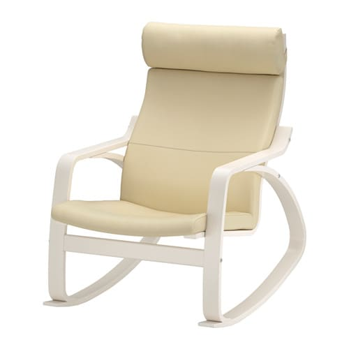 Po ng rocking chair glose off white ikea for Childrens rocking chair ikea