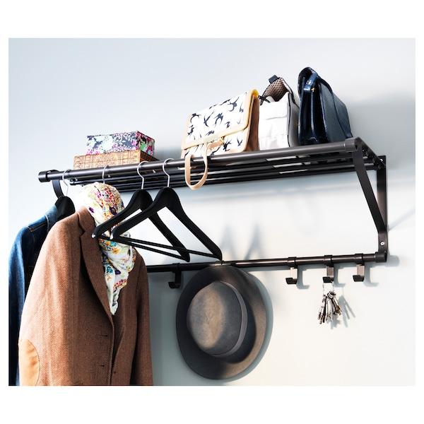 "PORTIS Hat rack, black, 35 3/8 """