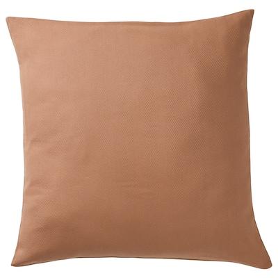 "PRAKTSALVIA Cushion cover, brown, 20x20 """