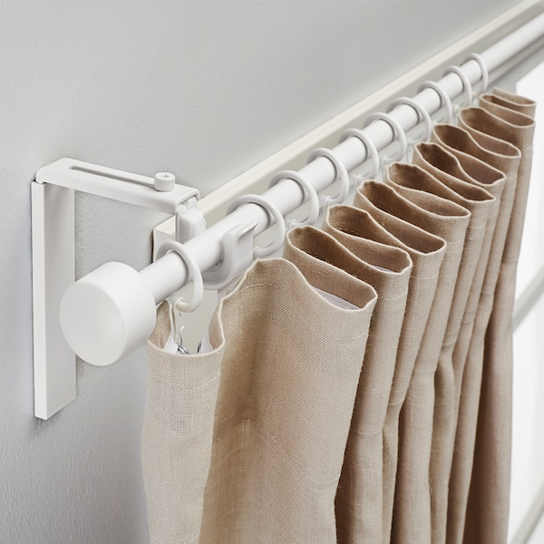 RÄCKA Curtain rod combination, white, 47 1/4-82 5/8 ""