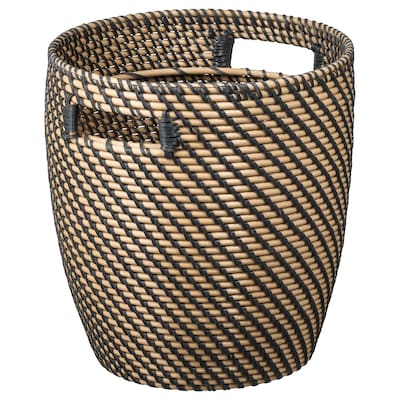 "RÅGKORN Plant pot, indoor/outdoor natural, 9 ½ """