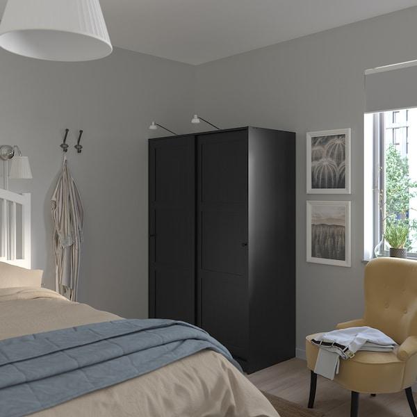 Rakkestad Wardrobe With Sliding Doors Black Brown 461 8x691 4 117x176 Cm Ikea
