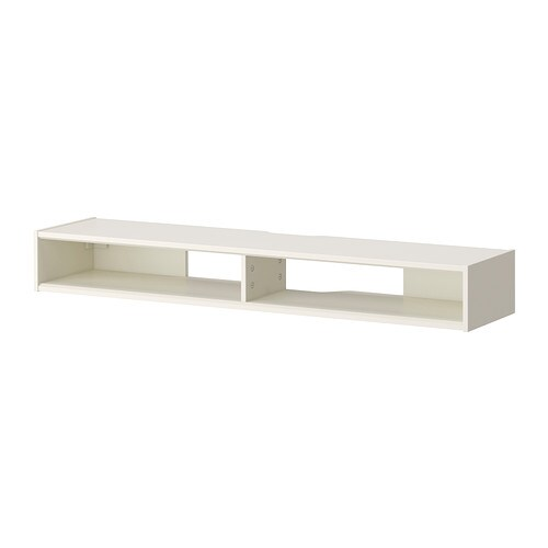 RAMSÄTRA Media shelf   Powder-coated fiberboard makes the surface durable and scratch resistant.