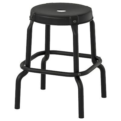 RÅSKOG Stool, black