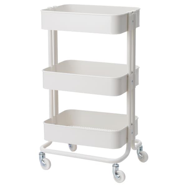 "RÅSKOG Utility cart, white, 13 3/4x17 3/4x30 3/4 """