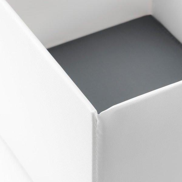 RASSLA Box with compartments, white, 9 ¾x16 ¼x6 ¼ ""