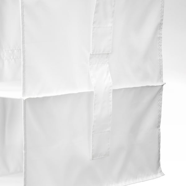 "RASSLA Organizer with 5 compartments, white, 9 ¾x15 ¾x38 ½ """