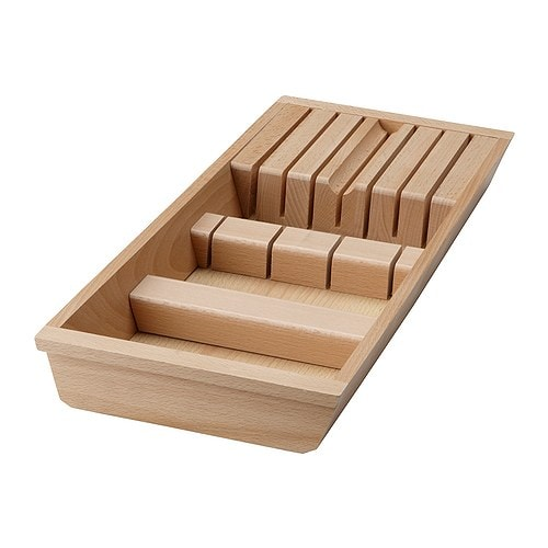 RATIONELL Knife tray   To be placed in the drawer for easy to overview and access storage of knives.