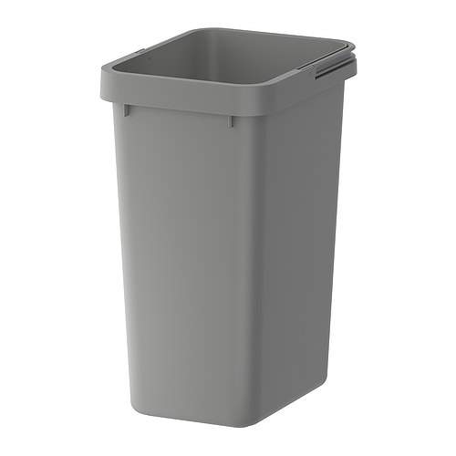 RATIONELL Recycling bin IKEA Folding handle makes it easy to carry, and keeps the liner in place.