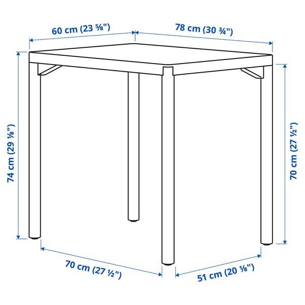 """RÅVAROR Dining table, oak veneer, 23 5/8x30 3/4 """""""