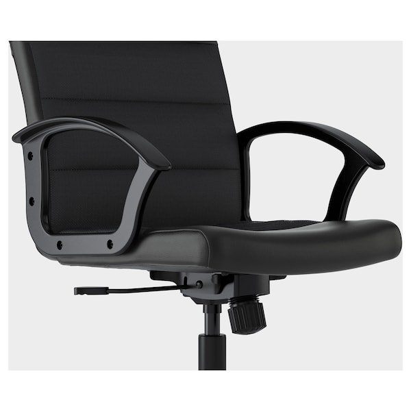 "RENBERGET swivel chair Bomstad black 242 lb 8 oz 23 1/4 "" 25 5/8 "" 42 1/2 "" 19 1/4 "" 16 1/2 "" 17 3/4 "" 22 1/2 """