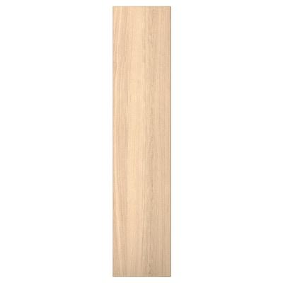 """REPVÅG Door with hinges, white stained oak veneer, 19 1/2x90 3/8 """""""
